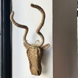 """Trophée """"Kudu"""" en jonc"""